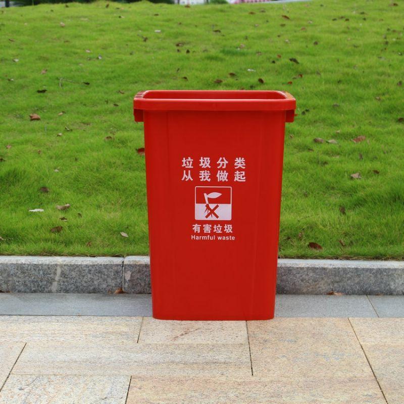 红色垃圾桶的标志代表什么意思?