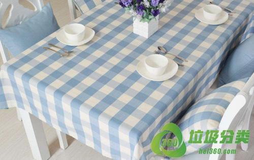 废旧桌布(台布)属于什么垃圾分类?