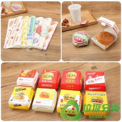 汉堡纸袋属于什么垃圾分类?