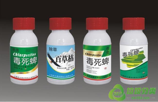 农药瓶属于什么垃圾分类?