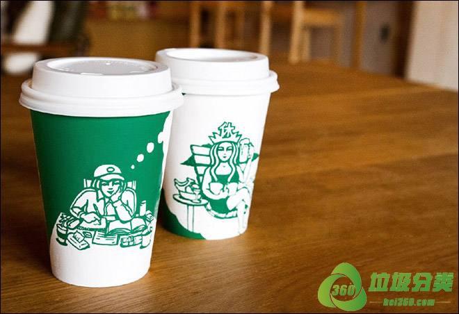 星巴克纸杯属于什么垃圾分类?