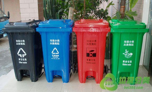 呼和浩特垃圾桶颜色分类和标志