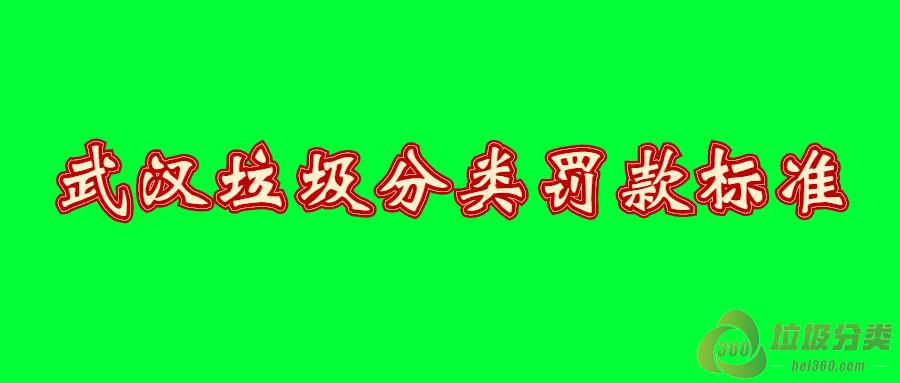 武汉垃圾分类罚款标准