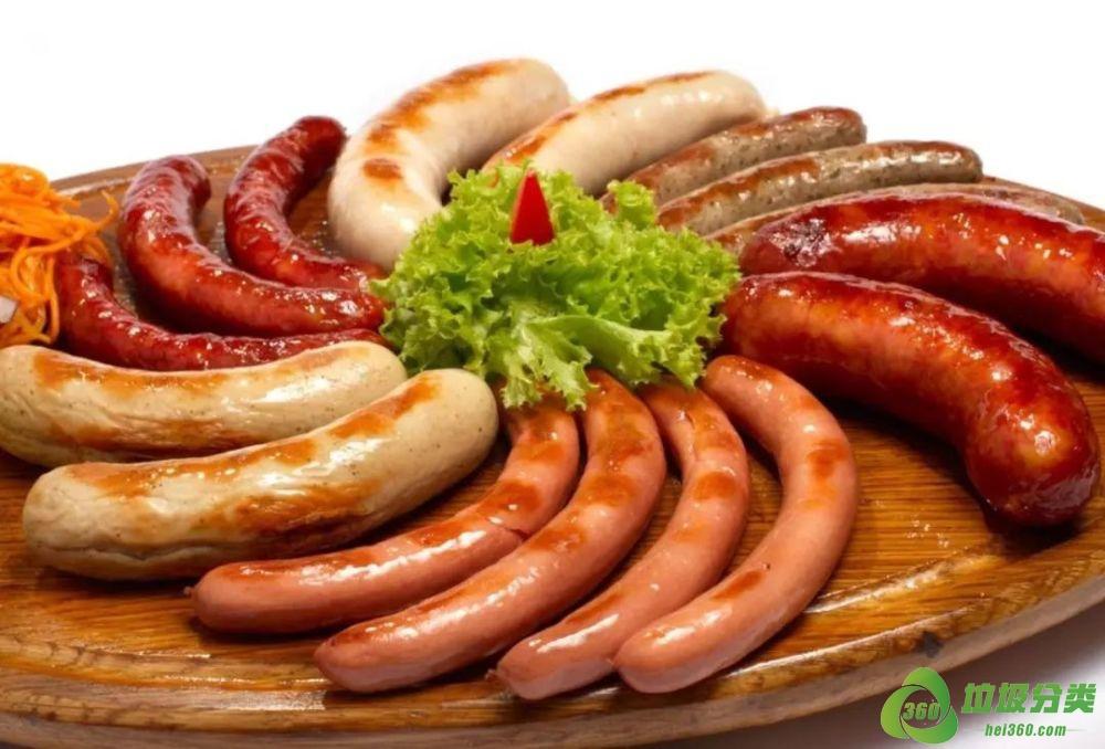 德国香肠属于什么垃圾分类?