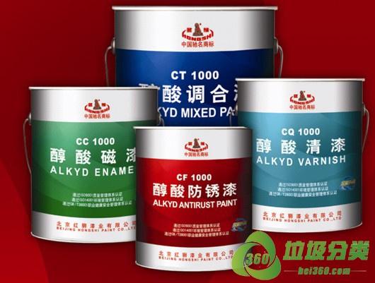 醇酸树脂涂料属于什么垃圾分类?